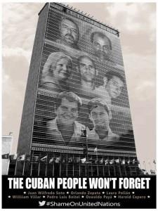 Poster para la campaña #ShameOnUnitedNations