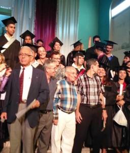 El pasado 19 de junio en la 11 graduación del Seminario que fundó y rectoró en Santa Clara