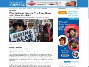 Foto en prensa norteamericana de protestas en USA reclamando la liberación de Alan Gross