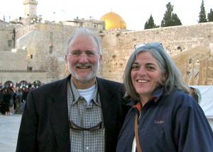 Gross y su esposa en Jerusalén