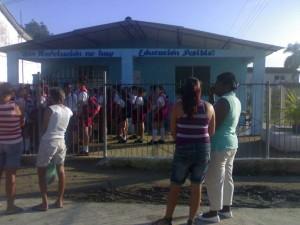 La escuela primaria Pelayo Cuervo Navarro de Taguayabón, Villa Clara.