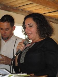 Yoaxis Marcheco durante su presentación