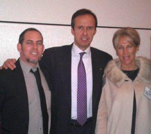 El autor junto a Tito Quiroga, expresidente de Bolivia y su esposa. Lamentableente el régimen cubano expulsó desde el aeropouerto José Martí de La Habana junto a el expresidente Andrés Pastrana de Colombia